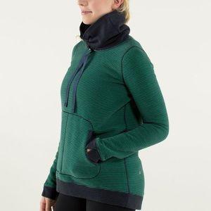 Lululemon Avenue Pullover Stripe Green Bean Size 6